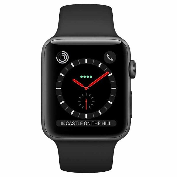 Apple Series 3 38mm GPS+Cellular (MR2W2) Space Gray Aluminium Gray Sport Band costel.md