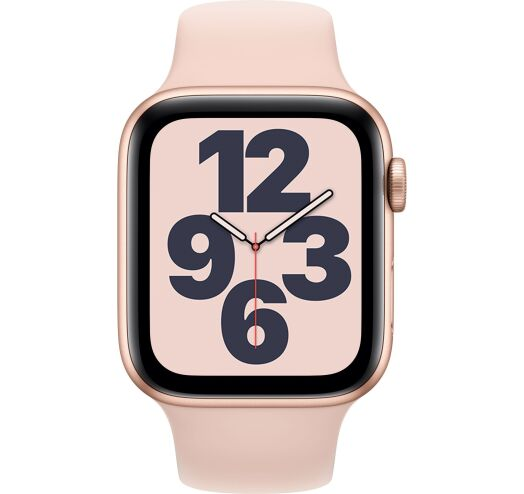 Apple Watch SE 40mm (MYDN2) Gold Aluminum Case with Pink Sand Sport Band costel.md