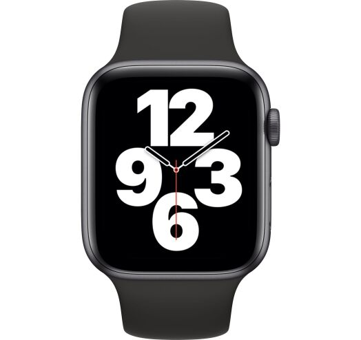 Apple Watch SE 40mm (MYDP2) Space Grey Aluminum Case with Black Sport Band costel.md